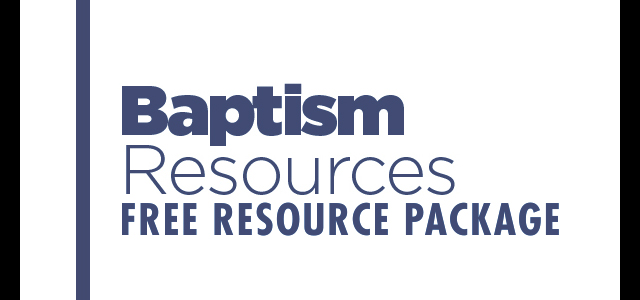 Free Resource Package: Baptism