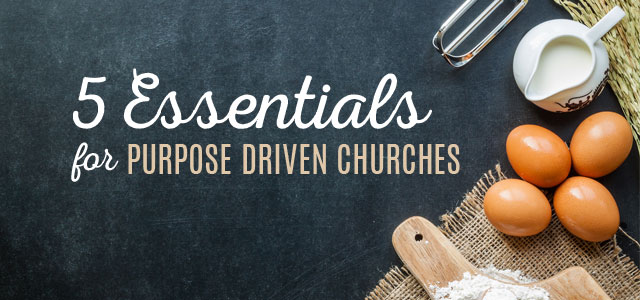 5 Essential Ingredients for Planting Purpose Driven Churches