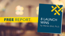 "Free Report: ""8 Launch Wins"" by Bird"