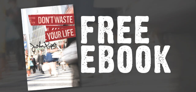 "Free eBook: ""Don't Waste Your Life"" by John Piper"