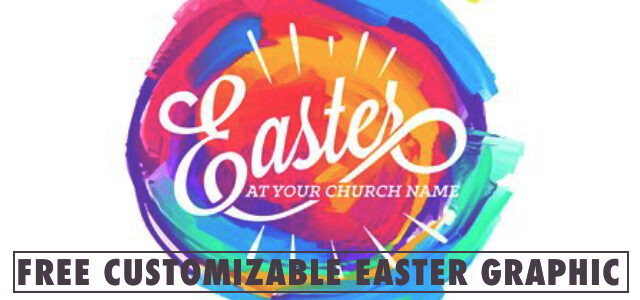 Free Customizable Easter Graphic