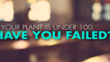 If Your Plant is Under 100, Have You Failed?