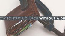 how to start a church with no money